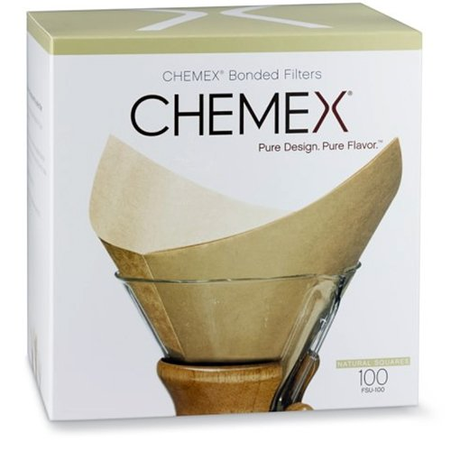 chemex-bonded-unbleached-pre-folded-square-coffee-filters-100-count