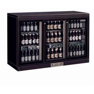 Frigo à bar / Arrière-bar portes coulissantes 273bouteilles Polar 3 portes finition noire