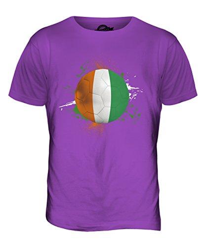 CandyMix Elfenbeinküste Fußball Herren T Shirt Violett