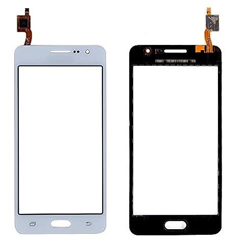 ixuan Vitre Tactile Sans Ecran LCD de Rechange pour Samsung Galaxy Grand Prime SM-G531F G531 (Blanc) avec Outiles