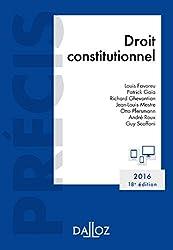 Droit constitutionnel. Édition 2016 - 18e éd.