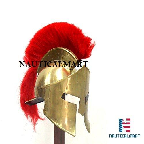 Roman Armour Kostüm Mittelalter Roman Spartan Helm King 300Leonidas Armor W/Rot Plume