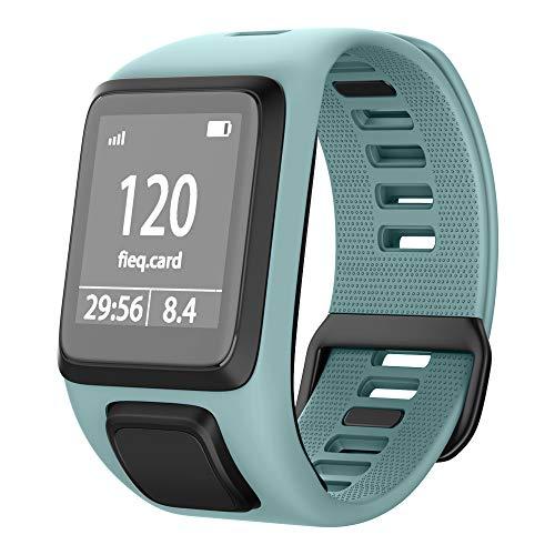 NotoCity Tomtom Runner 3 Armband/Runner 2/Spark 3/Adventurer/Golfer 2 Uhrenarmband Silikon Uhrenbänder für Tomtom Watch (Mintgrün)