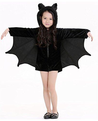 Halloween Schläger Kostüme für Kinder Mädchen Party Kleid (Kostüme Sexy Fledermaus Mädchen)