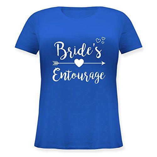 JGA Junggesellinnenabschied - Bride's Entourage - XL (50/52) - Blau - JHK601 - Lockeres Damen-Shirt in großen Größen mit Rundhalsausschnitt