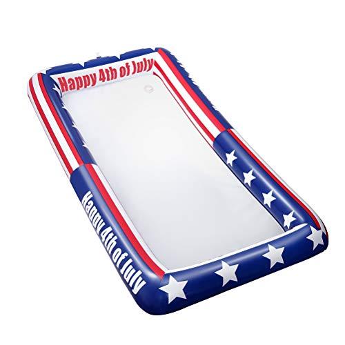 Servierstange mit Muster der amerikanischen Flagge Buffet-Kühlplatten-EIS-Kühler-Picknick-Pool BBQ-Partei ()