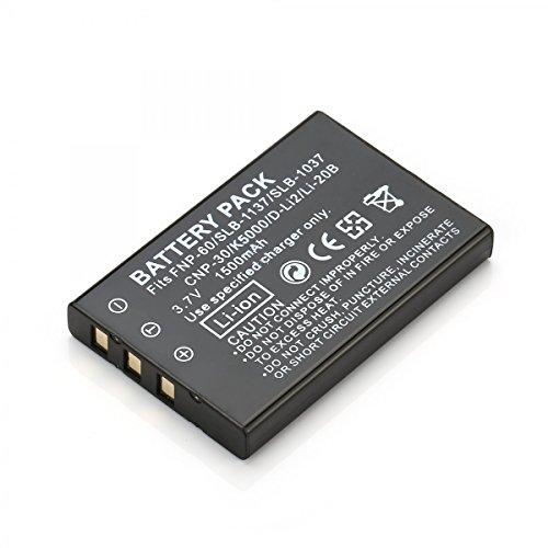 Rusty Bob - NP-60 Batería / Batería EX-S10, EX-S12, EX-FS10, EX-Z100, EX-Z20, EX-Z21, EX-Z22, EX-Z200, EX-Z80, EX-Z85, EX-Z19, EX-Z9 - Sólo la batería