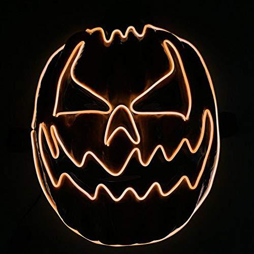 smzzz LED Halloween Maske,LED Maske mit 3 Blitzmodi für Halloween Fasching Karneval Party Kostüm Cosplay Dekoration (Blau) (Drei Ist Company Halloween Kostüm)