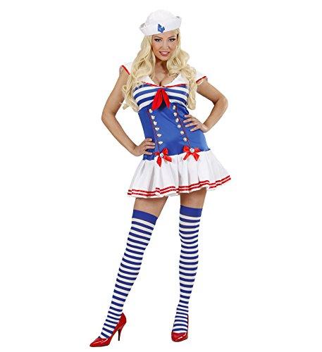 Matrosin Matrose Damen Kostüm Gr. M inkl. Kleid Hut und Strümpfe Junggesellenabschied Fasching Karneval