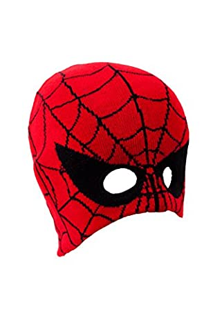 IMTD Boys Kids Spiders Web Design Face Mask Beanie Ski