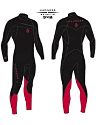 COMBINAISON SURF HOMME 3/2MM CREW MADNESS BLACK/RED