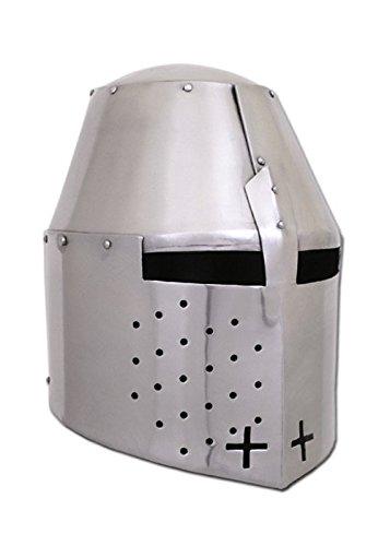 Stirn-finish (Battle-Merchant Grosser Helm Pembridge, um ca. 1370, 1,2mm Stahl - schaukampftauglich - Topfhelm - Turnierhelm - Mittelalter)
