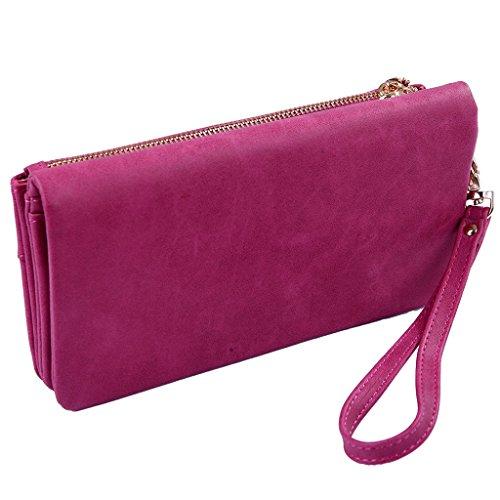 XKMON Moda contratto ad alta capacità nuove donne di colore della caramella e borsa portafoglio borsa zs007 Rosso Rosso