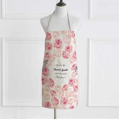 YXDZ Tessuto Senza Maniche Polvere Rosso Cucina Casalinga Grembiule da Cuoco Uomo E Donna Vita Abito da Cuoco Rosso Rosa 3