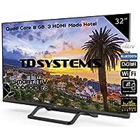 Televisores Smart TV 32 Pulgadas Led HD. [WiFi, 3X HDMI, HbbTV 2.0.1, TDT-HD] TD Systems K32DLX9HS.