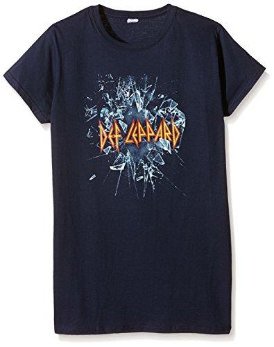 Plastic Head - Def Leppard Def Leppard Gts, T-shirt Donna, Blu, Medium