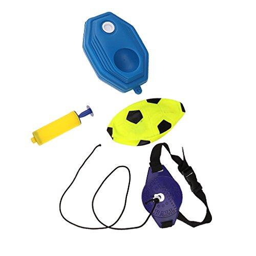 Training Sockel (MagiDeal Aufblasbare Fußball Sport Training Fußball Strand Ball Kinder Spielzeug Set perfekt für Übungen im Indoor & Outdoor)