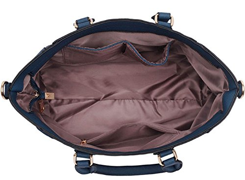 LeahWard® Tragetaschen Zum Damen mode Qualität Herrlich Kunstleder Berühmtheit Stil Vorhängeschloss Tasche Damen Schnell verkaufend Handtasche CWS0031A CWS0031L Marine