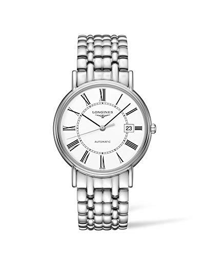 Longines Presence de hombre 38 mm cristal mineral FECHA reloj mecanismo automático L49214116
