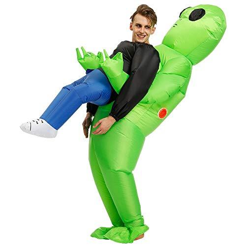 JASHKE Traje Inflable alienígena Mascota Cosplay Disfraces Artículos para Fiesta de cumpleaños