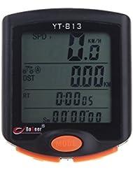 Gudoqi ® LCD Retroiluminada Bicicleta De Montaña Bicicleta De Carretera Sensores Importados Impermeables Velocímetro De Ciclismo Odómetro