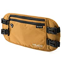 MUCO Money Belt, Ticket Passport Holder, Mens Womens Travel RFID Blocking Waist Bag, Hidden Travel Wallet for Women and Men