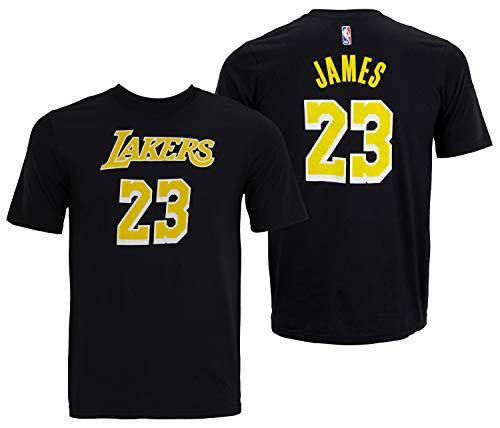 Outerstuff Lebron James Los Angeles Lakers # 23Jugend Player Namen und Nummer T-Shirt Schwarz, Jungen, schwarz, Youth X-Large 18/20
