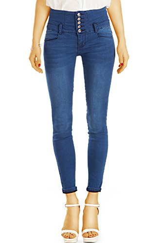 ebce5813b1c2 bestyledberlin Damen High Waisted Jeans, Super Stretch Röhrenjeans,  SkinnyJeans Hoher Bund j25g 36 S