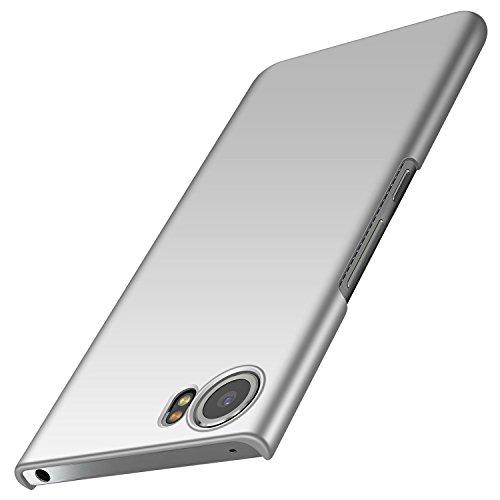 Design Blackberry (anccer BlackBerry Keyone Hülle, [Serie Matte] Elastische Schockabsorption und Ultra Thin Design für Keyone (Glattes Silber))