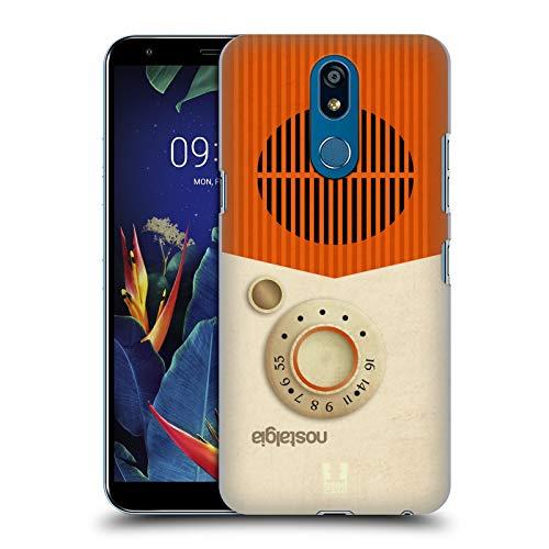 Head Case Designs Notalgie Vintage Radio Telefon Harte Rueckseiten Huelle kompatibel mit LG K40 / K12 Plus K40 Radio