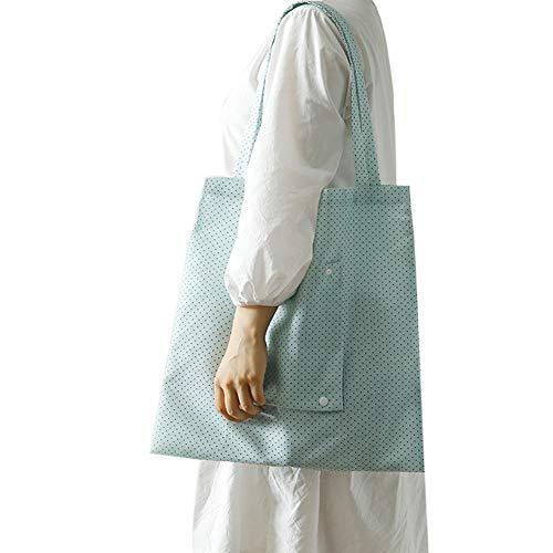 Modische Einkaufstaschen (tyrrrdtrd Faltbare Einkaufstasche, Bedruckt, modischer Supermarkt, Lebensmittel-Halter, Schultertasche, Oxfordgewebe, 1)