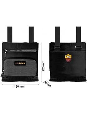AS Roma Tasche 100% PL schwarz Offizielles Produkt