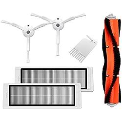 Accessoires pour le robot aspirateur Xiaomi Mi - 2brosses latérales, 2 filtres HEPA, 1 brosse principale, 1outil de nettoyage