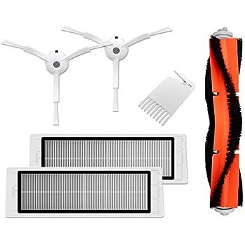 5x Für XIAOMI Mi Robot Vacuum Cleaner Hauptbürste Fliter Seitenbürsten Zubehör