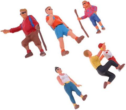 Fenteer 6pcs 1/87 Jouet Personnages Figurines Poupée - Personnes Peint du Parc de Train | Supérieurs Performances
