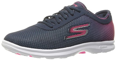 Skechers Go Step Prismatic Womens Chaussure Fitness - SS17 Navy/Pink