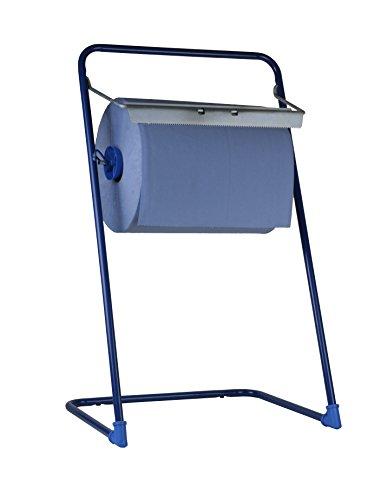 SemyTop ST-88521 Putzrollen-Spender, Bodenständer, Metall, Blau