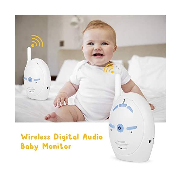 2.4GHz Wireless Video Baby Monitor, anny Intercom Camera Electronic Alarm with Two-Way Audio for Baby(1#) Sonew ★ 2.4GHz wireless digital transmission with stable transmission signal. Internal microphone and speak for two-way talk and audio monitoring. ★ High sensitivity, allows baby's crying to be easily heard with light open to inform parents. Easy to be matched, plug and play. ★ Supports data encryption and volume adjustment. Open space transmission range up to 250M.   2