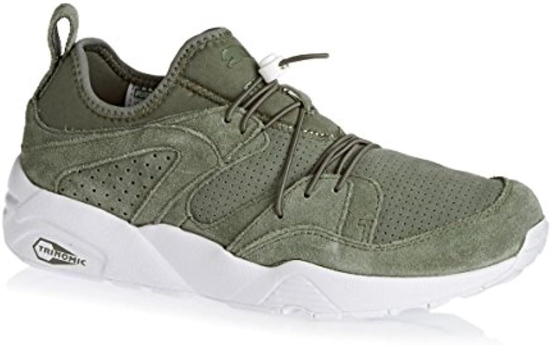 puma gloire douce trinomic cuir kaki chaussures en daim kaki cuir hommes baskets d325c2