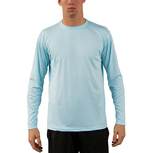Vapor Apparel Herren UPF 50+ UV Sonnenschutz Langarm Performance T-Shirt L Arctic Blau