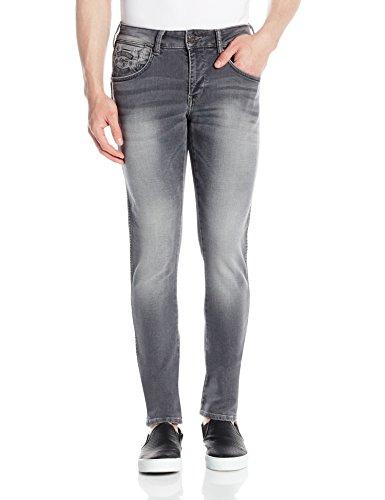 Wrangler Men's Straight Fit Jeans (8907222411541_WRJN6019_38W x 33L_Grey)