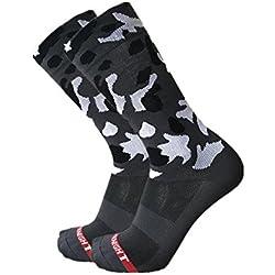 SKY KNIGHT Calcetines de ciclismo, calcetines deportivos de camuflaje, calcetines deportivos de compresión para ciclismo al aire libre, calcetines deportivos unisex para bicicleta