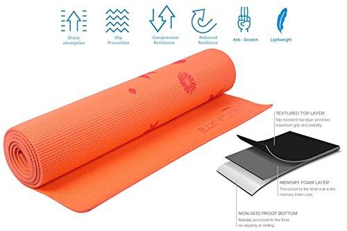 Strauss Yoga Mat 6MM (Floral Orange)