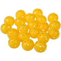 TOOGOO(R) 20 x Bola de entrenamiento de practica de tenis de golf hueco perforado plastico