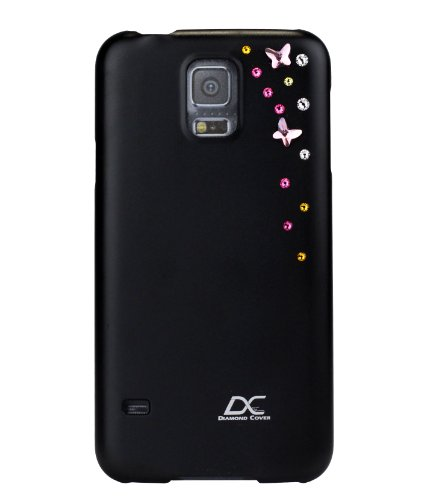 Diamond cover sky telefono cover con swarovski element per samsung galaxy s5 nero