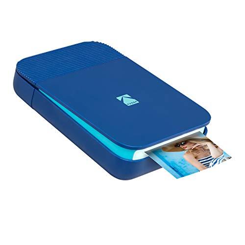KODAK Smile Digitaler Sofortdrucker - Bluetooth Mini-Drucker zum Aufklappen für iOS & Android - Bearbeiten, drucken & teilen 2x3 Zink Fotos mit GRATIS Smile App - Blau