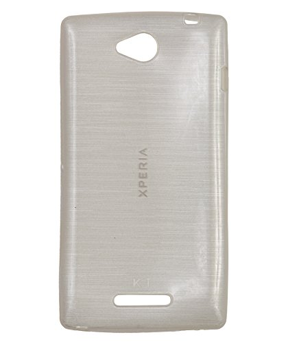 iCandy™ Soft TPU Shiny Back Cover For Sony Xperia C - White  available at amazon for Rs.165