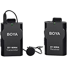 BOYA BY-WM4 sistema de Micrófono de Solapa Inalámbrico para Canon Nikon Sony Panasonic DSLR Cámara Cámara iphone android smartphone