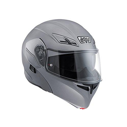 AGV - Compact ST - E2205Solid PLK, casco para moto, color gris mate,