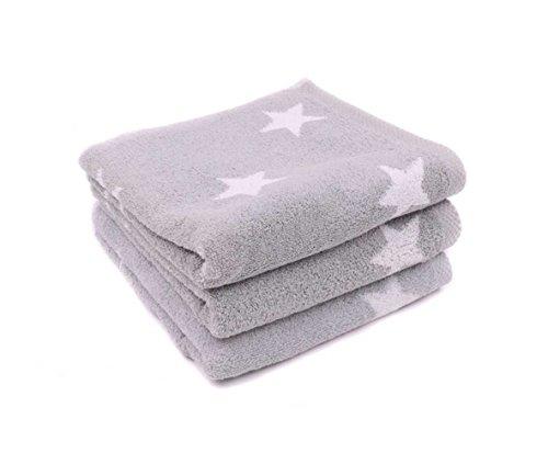 LASA Handtuch Stars–Für Frisiertisch, 33x 50cm, Waschbecken, 50x 100cm 100 x 150 cm Grau